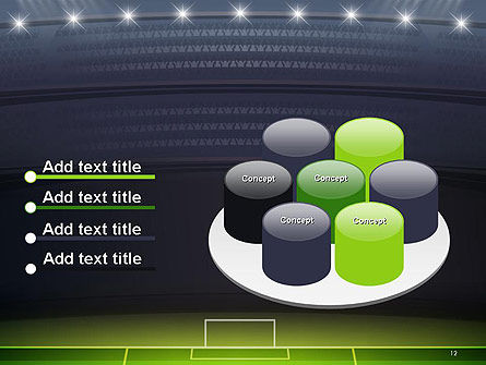 Football Stadium at Night PowerPoint Template Slide 12