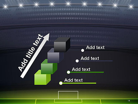Football Stadium at Night PowerPoint Template Slide 14