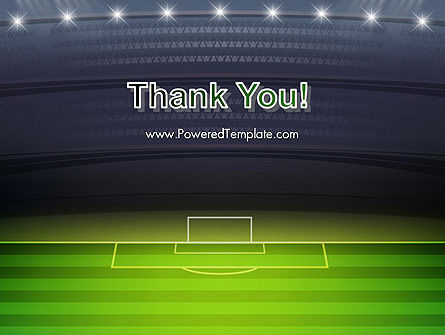 Football Stadium at Night PowerPoint Template Slide 20