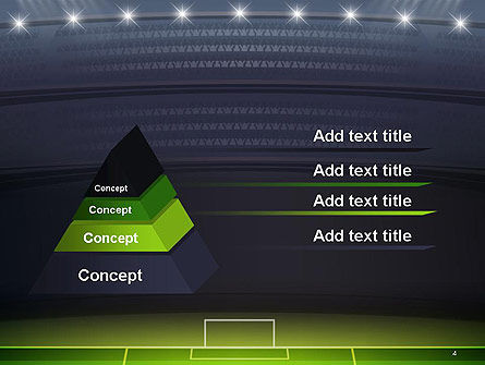 Football Stadium at Night PowerPoint Template Slide 4