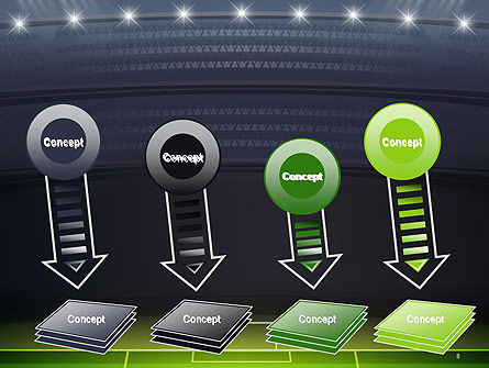 Football Stadium at Night PowerPoint Template Slide 8