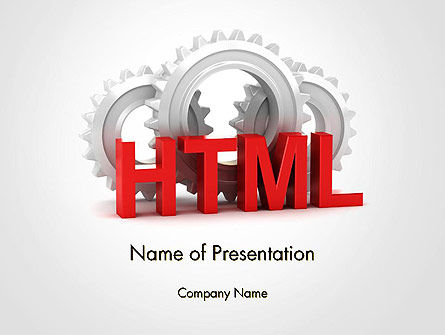 3D: HTML and Gears PowerPoint Template #14333