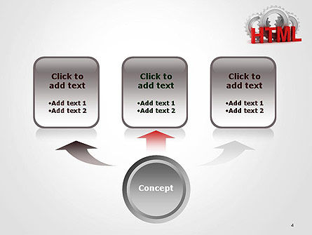 HTML and Gears PowerPoint Template, Slide 4, 14333, 3D — PoweredTemplate.com
