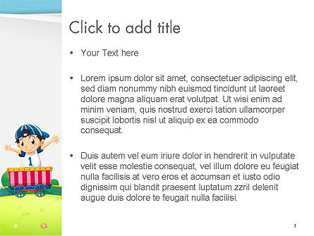 Children on the Train Illustration PowerPoint Template, Slide 3, 14334, Education & Training — PoweredTemplate.com
