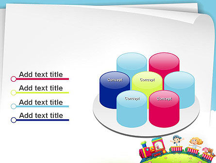Children on the Train Illustration PowerPoint Template Slide 12
