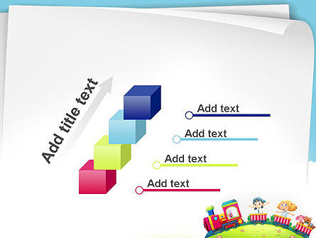 Children on the Train Illustration PowerPoint Template Slide 14