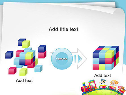 Children on the Train Illustration PowerPoint Template Slide 17