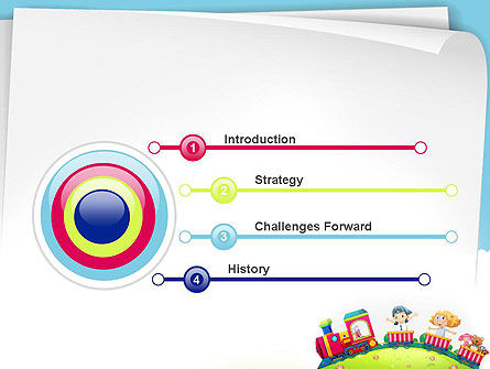 Children on the Train Illustration PowerPoint Template Slide 3