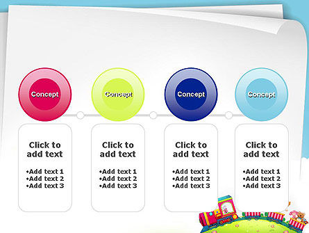 Children on the Train Illustration PowerPoint Template Slide 5