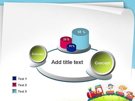 Children on the Train Illustration PowerPoint Template Slide 6