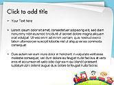 Children on the Train Illustration PowerPoint Template#2
