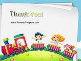 Children on the Train Illustration PowerPoint Template#20