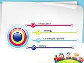Children on the Train Illustration PowerPoint Template#3