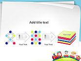 Children on the Train Illustration PowerPoint Template#9
