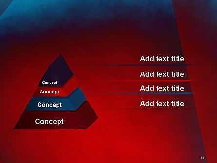 Dark Red Layered Background Abstract PowerPoint Template Slide 12