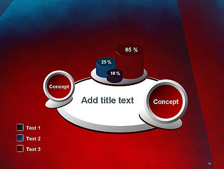 Dark Red Layered Background Abstract PowerPoint Template Slide 16