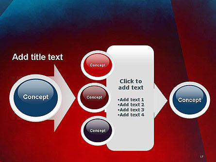 Dark Red Layered Background Abstract PowerPoint Template Slide 17