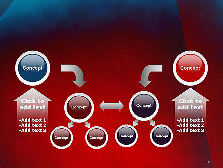 Dark Red Layered Background Abstract PowerPoint Template Slide 19