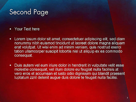 Dark Red Layered Background Abstract PowerPoint Template Slide 2