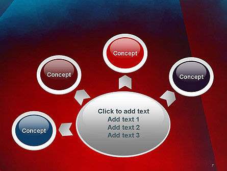 Dark Red Layered Background Abstract PowerPoint Template Slide 7