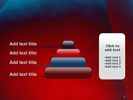 Dark Red Layered Background Abstract PowerPoint Template Slide 8