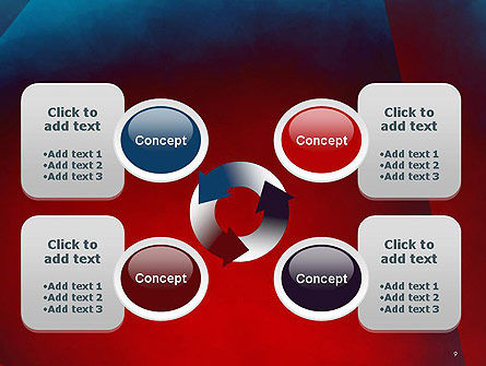Dark Red Layered Background Abstract PowerPoint Template Slide 9