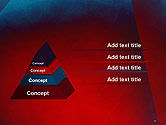 Dark Red Layered Background Abstract PowerPoint Template#12