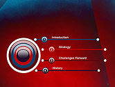 Dark Red Layered Background Abstract PowerPoint Template#3