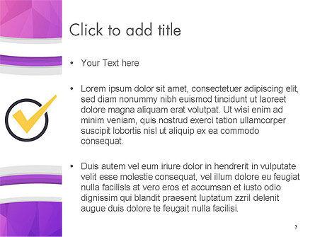 Purple Polygonal Mosaic PowerPoint Template, Slide 3, 14338, Abstract/Textures — PoweredTemplate.com