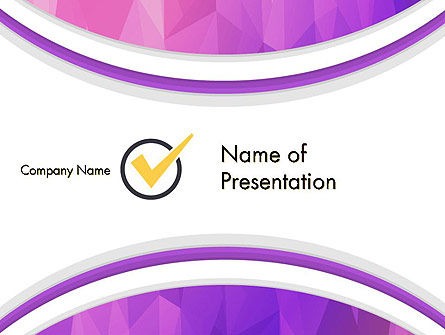 Purple Polygonal Mosaic PowerPoint Template