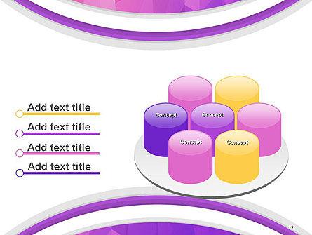 Purple Polygonal Mosaic PowerPoint Template Slide 12