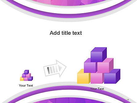 Purple Polygonal Mosaic PowerPoint Template Slide 13