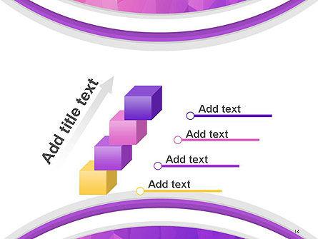 Purple Polygonal Mosaic PowerPoint Template Slide 14