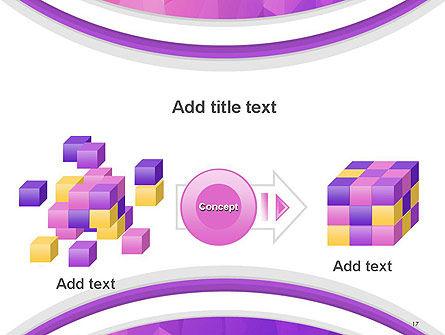 Purple Polygonal Mosaic PowerPoint Template Slide 17
