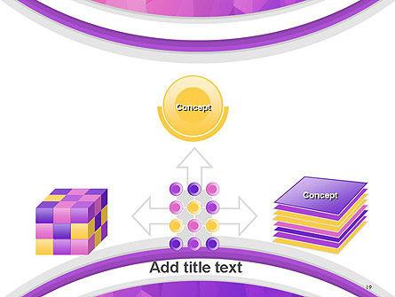 Purple Polygonal Mosaic PowerPoint Template Slide 19