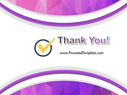 Purple Polygonal Mosaic PowerPoint Template Slide 20