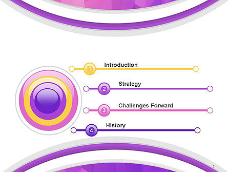 Purple Polygonal Mosaic PowerPoint Template Slide 3