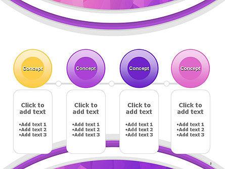 Purple Polygonal Mosaic PowerPoint Template Slide 5