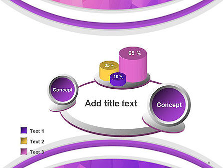 Purple Polygonal Mosaic PowerPoint Template Slide 6
