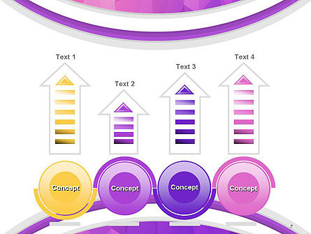 Purple Polygonal Mosaic PowerPoint Template Slide 7