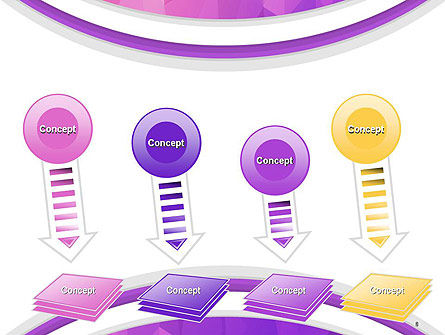Purple Polygonal Mosaic PowerPoint Template Slide 8