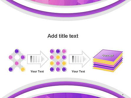 Purple Polygonal Mosaic PowerPoint Template Slide 9