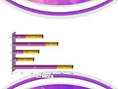 Purple Polygonal Mosaic PowerPoint Template#11