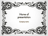 Abstract/Textures: Vintage Baroque Victorian Frame PowerPoint Template #14340
