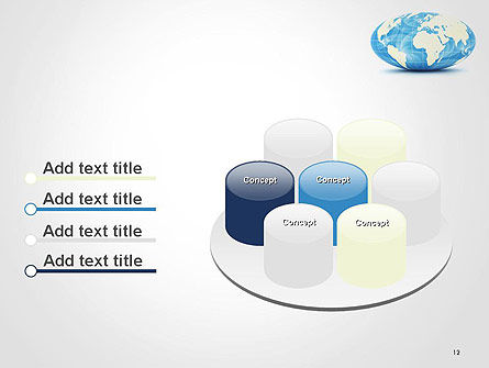 World Globe in Hammer-Aitoff Projection PowerPoint Template Slide 12