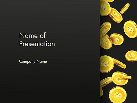Falling Dollar Coins PowerPoint Template, 14342, Financial/Accounting — PoweredTemplate.com