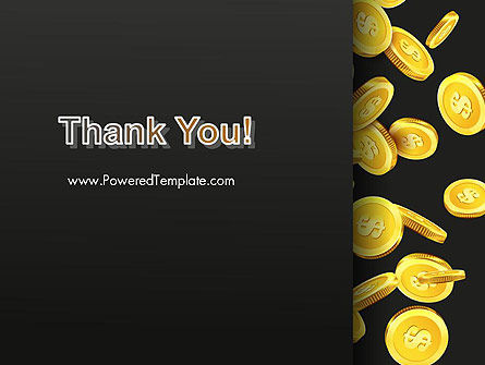 Falling Dollar Coins PowerPoint Template Slide 20