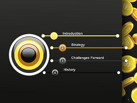 Falling Dollar Coins PowerPoint Template, Slide 3, 14342, Financial/Accounting — PoweredTemplate.com