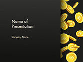 Financial/Accounting: Falling Dollar Coins PowerPoint Template #14342