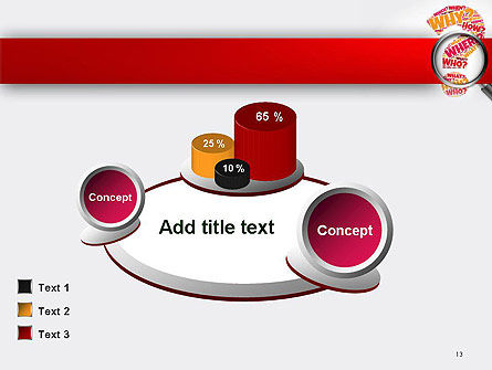 Question Mark with Magnifying Glass PowerPoint Template Slide 13